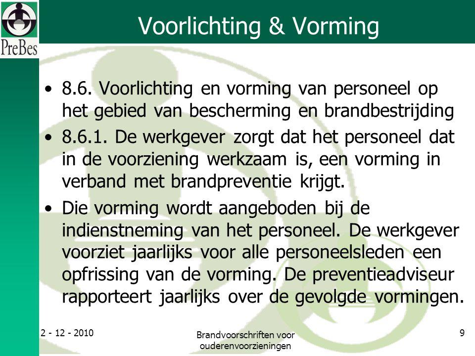 Voorlichting & Vorming 8.6.