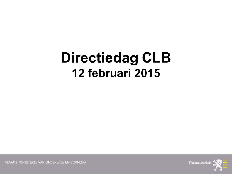 Directiedag CLB 12 februari 2015