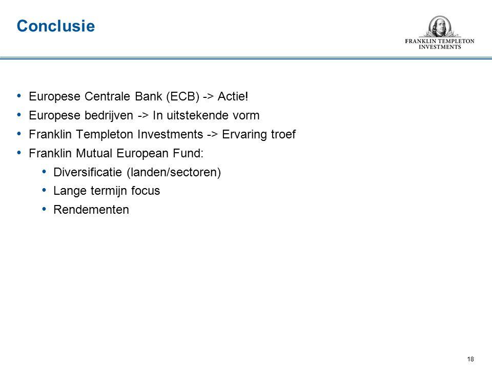 Europese Centrale Bank (ECB) -> Actie.