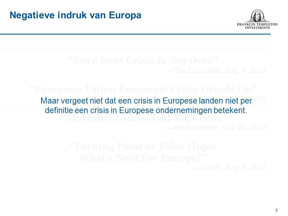 Negatieve indruk van Europa Euro Debt Crisis Is Not Over —The Economist, Aug.