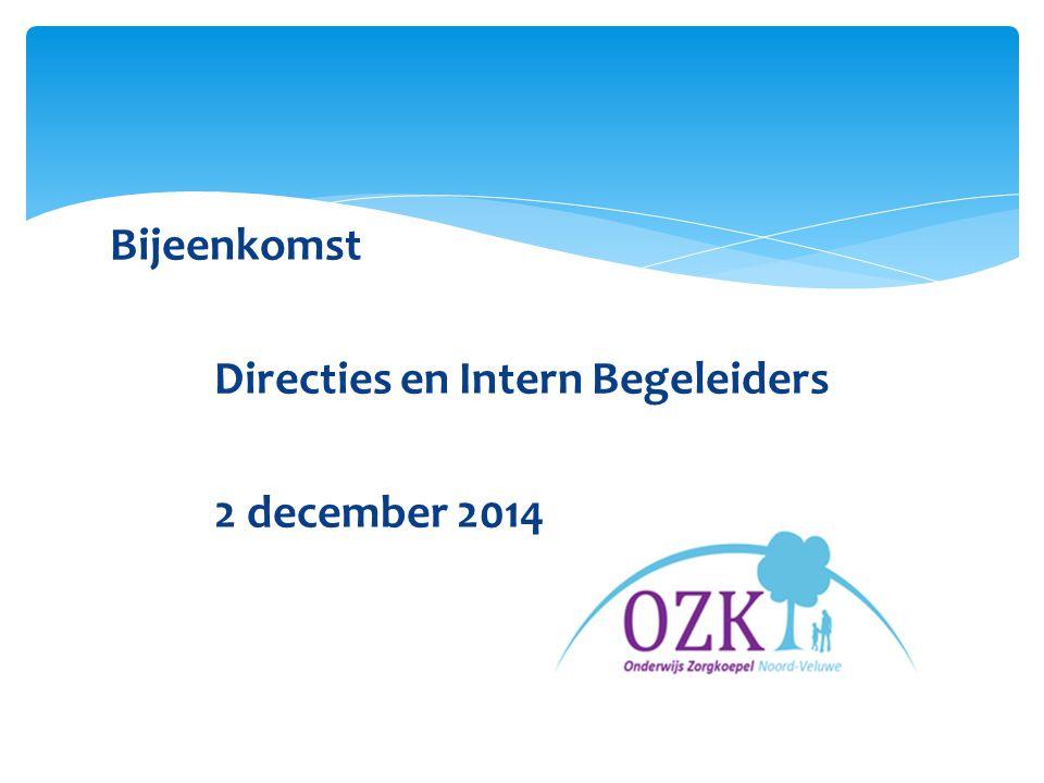 Welkom 'Zorgplicht, wat betekent dat voor mij….?' directies en intern begeleiders 2 december 2014