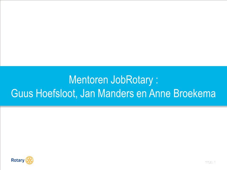 TITLE | 1 Mentoren JobRotary : Guus Hoefsloot, Jan Manders en Anne Broekema