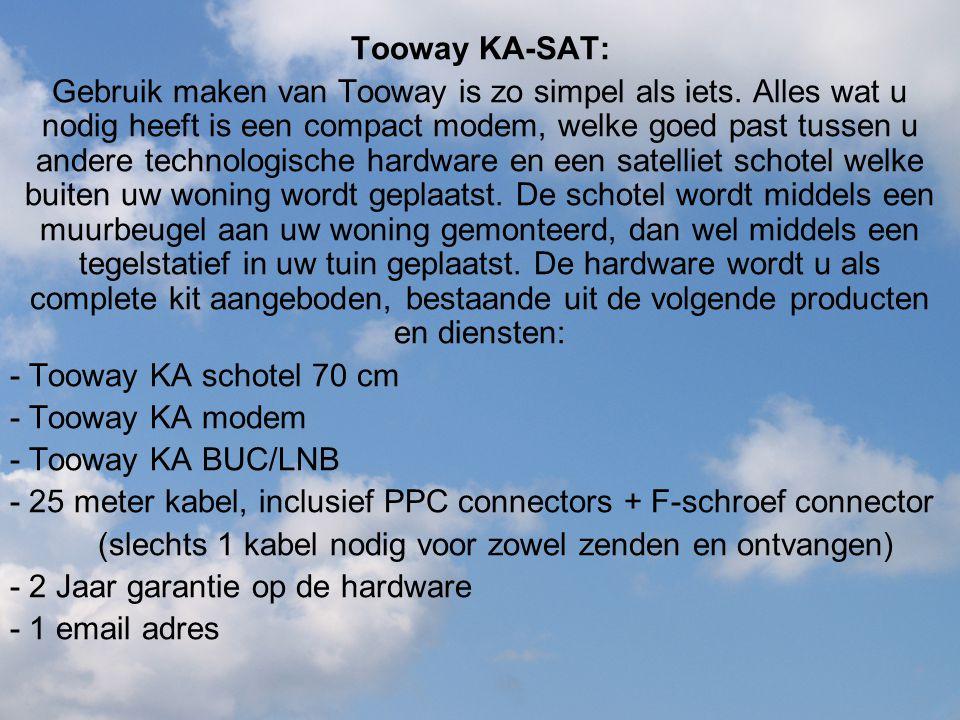 Tooway KA-SAT: Gebruik maken van Tooway is zo simpel als iets. Alles wat u nodig heeft is een compact modem, welke goed past tussen u andere technolog