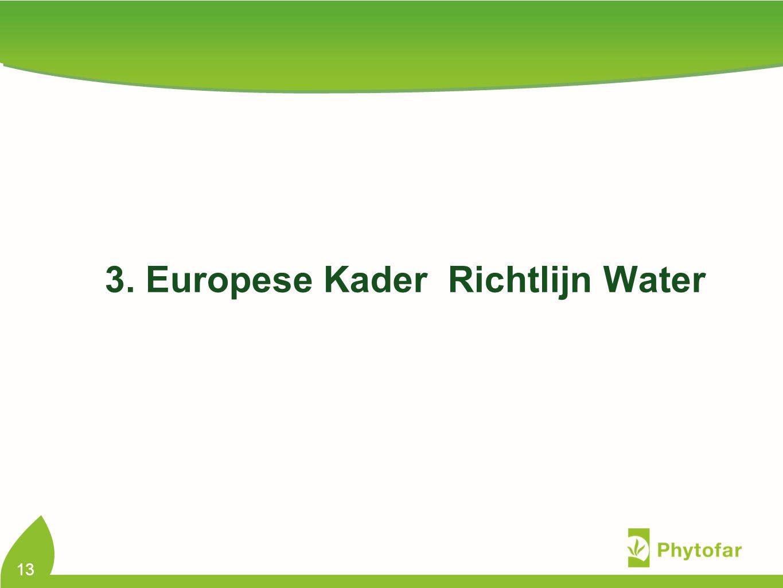 3. Europese Kader Richtlijn Water 13