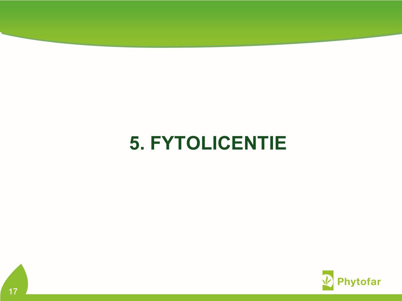 5. FYTOLICENTIE 17