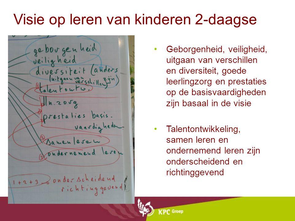 Visie op leren van kinderen 2-daagse Geborgenheid, veiligheid, uitgaan van verschillen en diversiteit, goede leerlingzorg en prestaties op de basisvaa