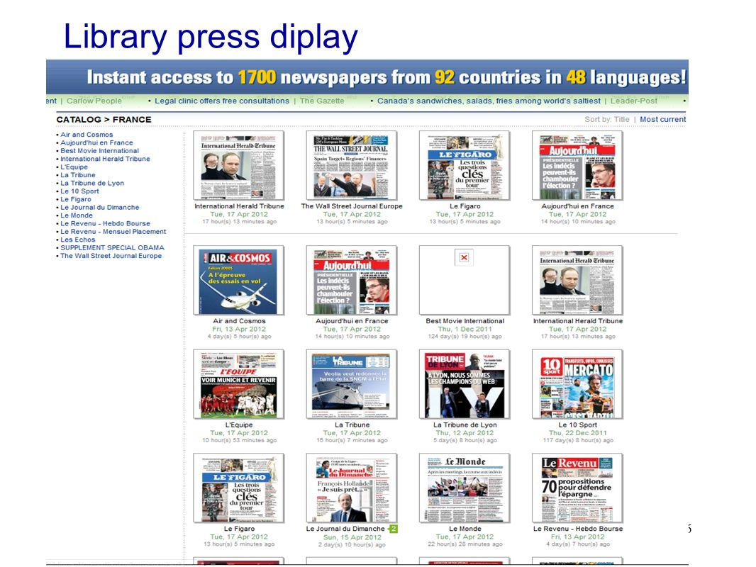 46 Library press diplay