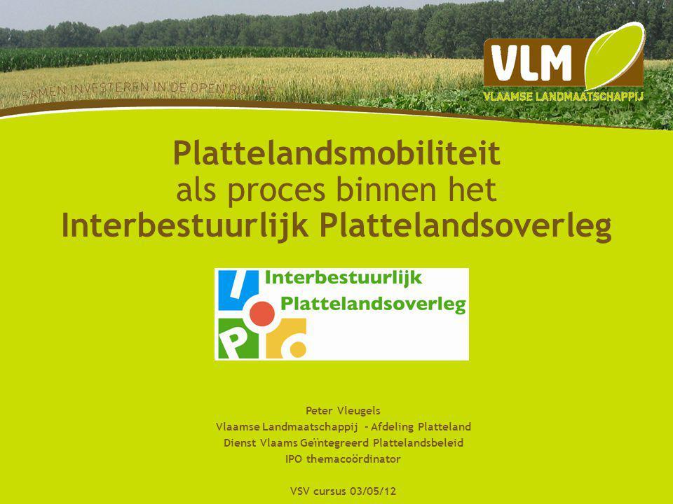 21-3-2015 Voorbeeldenboek www.ipo-online.be lancering VLM (persbericht) VVSG (e-zines) Trage wegen vzw (NB) Landelijke gilden (Buiten) … media parlementaire vraag studievoormiddag 24/04/12