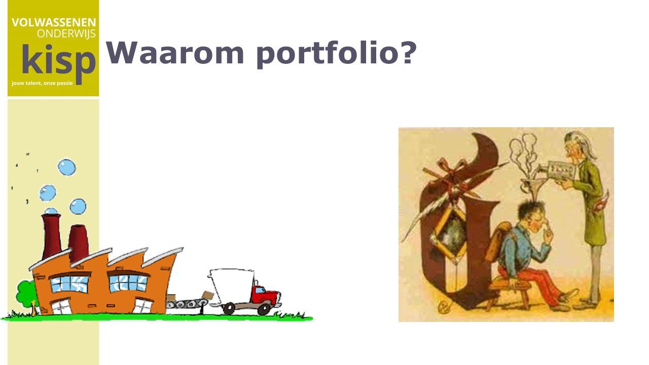 Waarom portfolio?