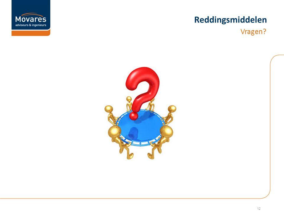 Reddingsmiddelen Vragen? 12