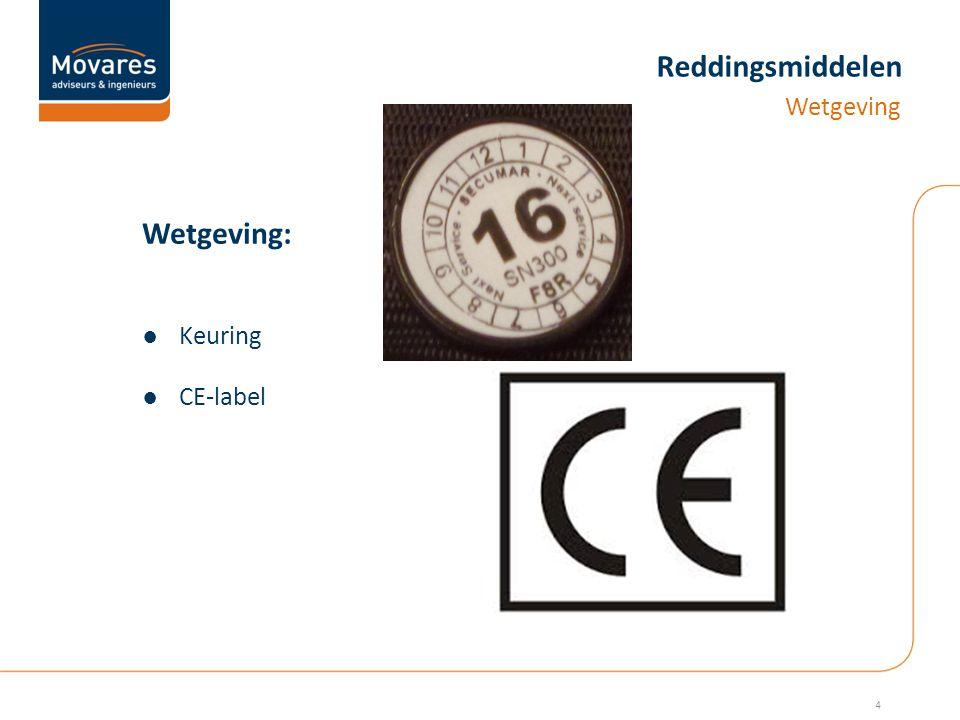 Reddingsmiddelen Wetgeving: Wetgeving ●Keuring ●CE-label 4