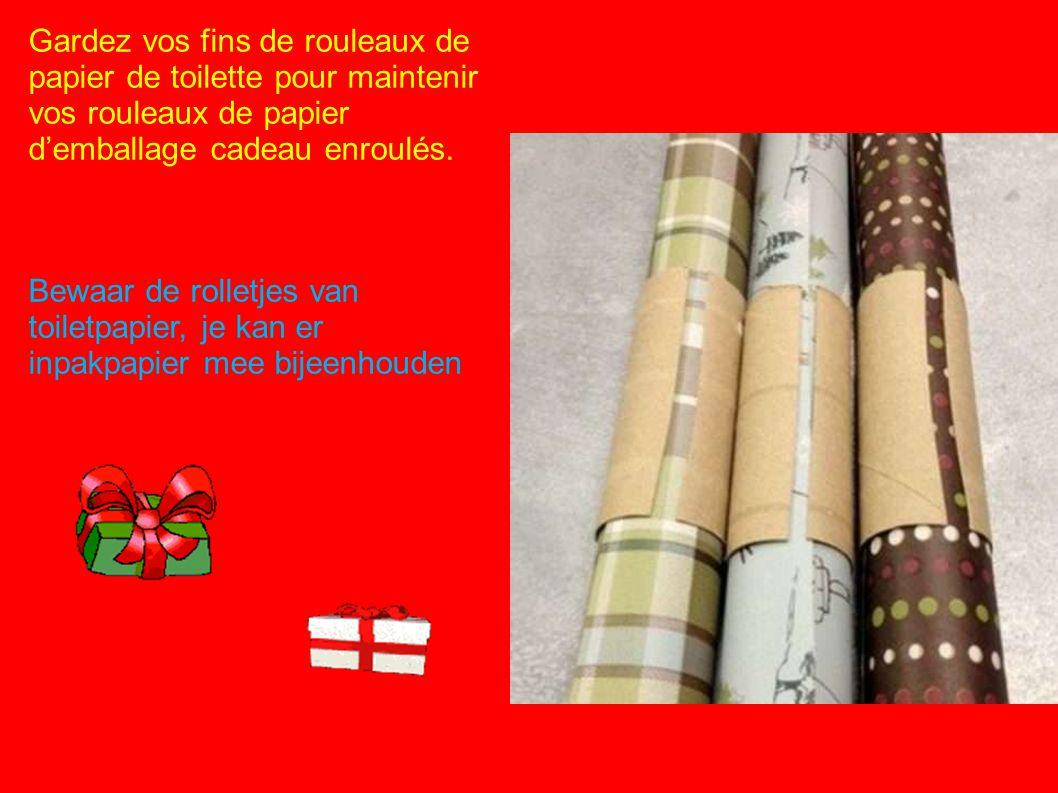 Gardez vos fins de rouleaux de papier de toilette pour maintenir vos rouleaux de papier d'emballage cadeau enroulés.