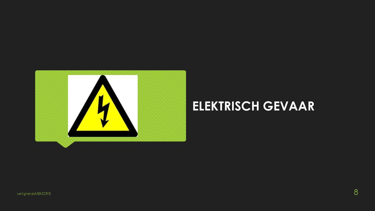 ELEKTRISCH GEVAAR veiligheidsMEMORIE 8