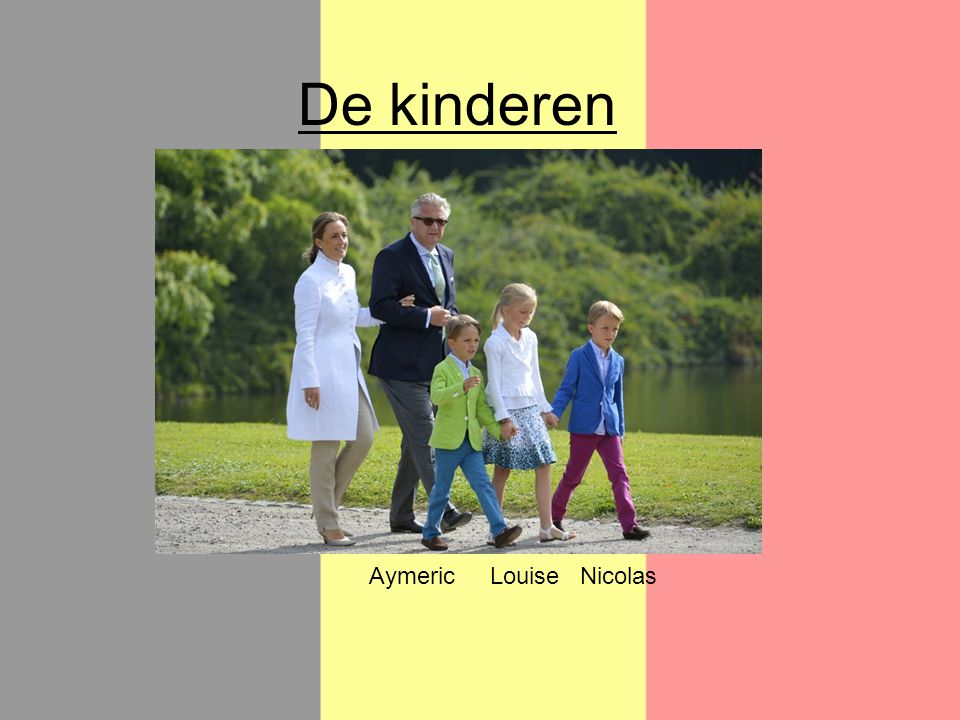 De kinderen LouiseNicolasAymeric