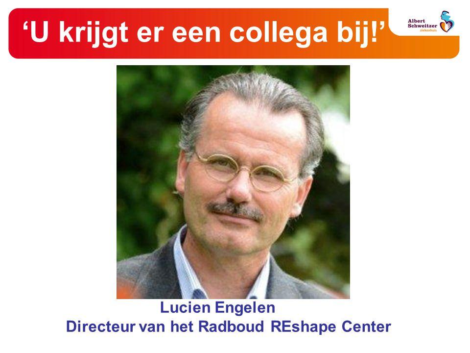 'U krijgt er een collega bij!' Lucien Engelen Directeur van het Radboud REshape Center