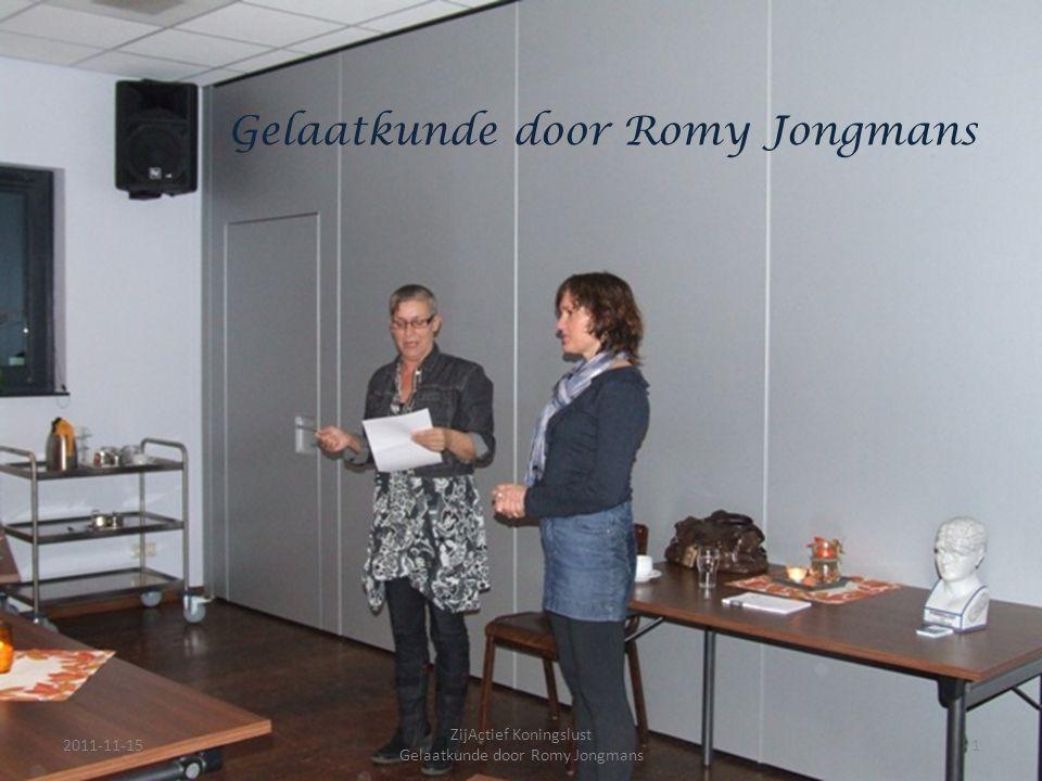Gelaatkunde door Romy Jongmans 2011-11-151 ZijActief Koningslust Gelaatkunde door Romy Jongmans