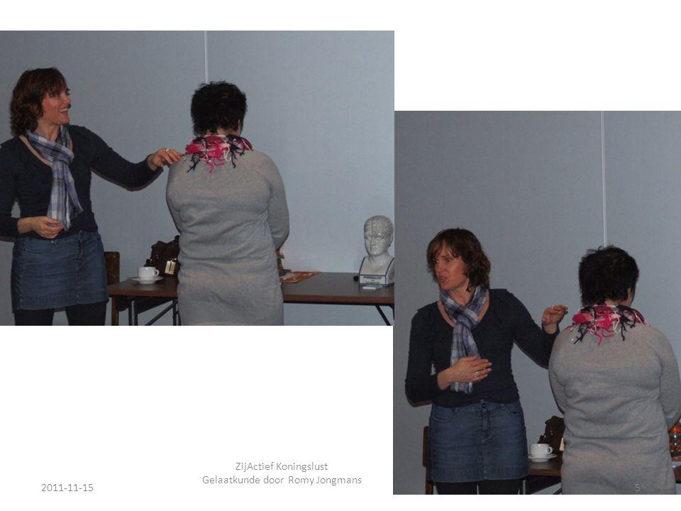 2011-11-155 ZijActief Koningslust Gelaatkunde door Romy Jongmans