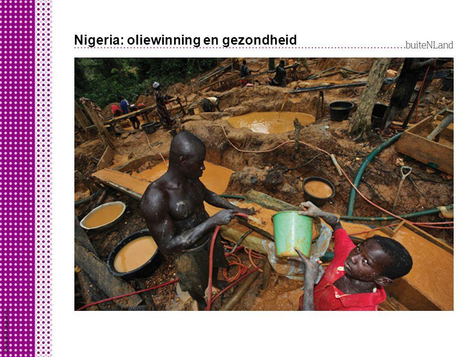 Nigeria: oliewinning en gezondheid Omgevings-gerelateerde ziekten: tropische ziekten ziekten ontstaan door milieuverontreiniging longkanker door lucht