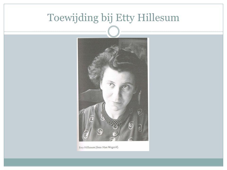 Etty in het kort Etty (officieel Esther) Hillesum wordt geboren op 15 januari 1914 in Middelburg.