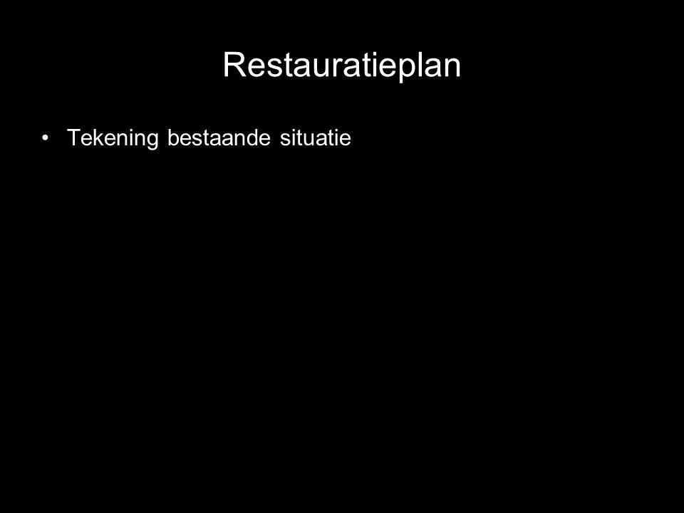 Restauratieplan Tekening bestaande situatie