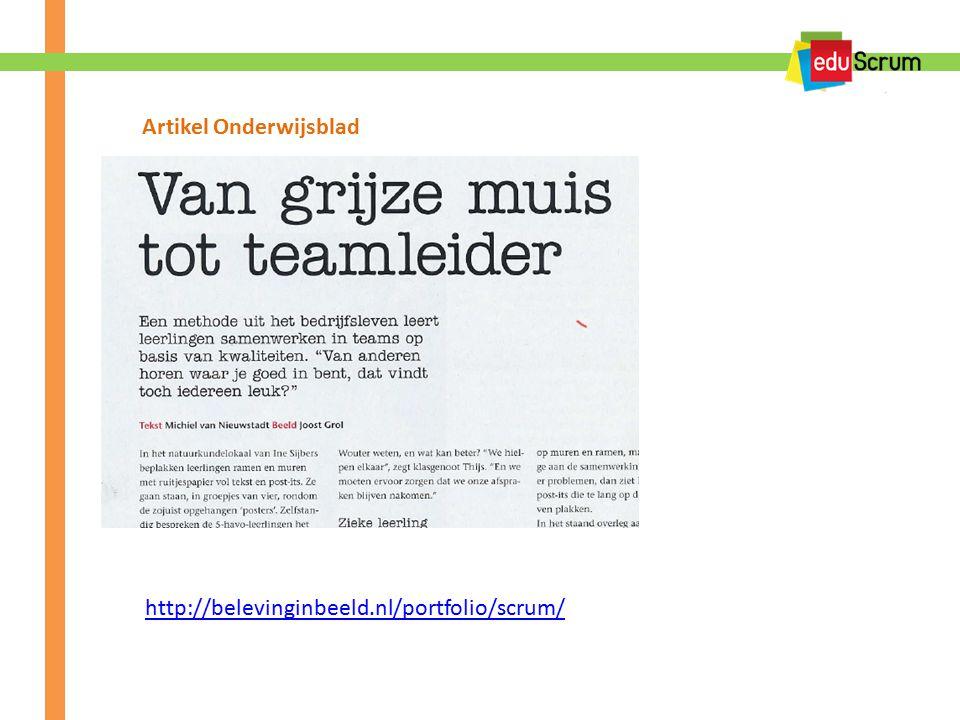 http://belevinginbeeld.nl/portfolio/scrum/ Artikel Onderwijsblad