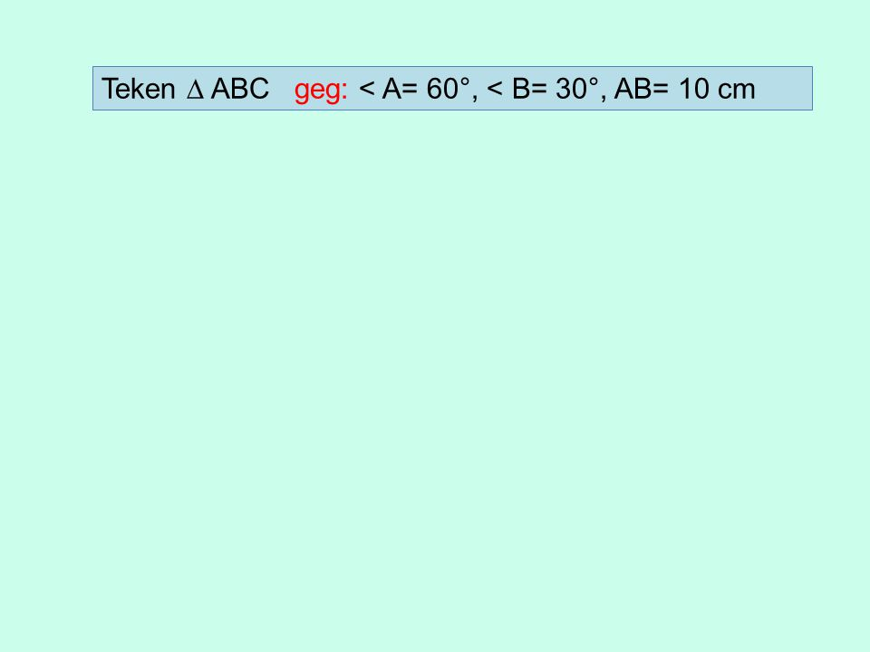 Gegeven h=20 en hg=0,4 Te berekenen: afstand a Berekening: 1.Schrijf eerst de formule op: h hg hg = ---- a 2.