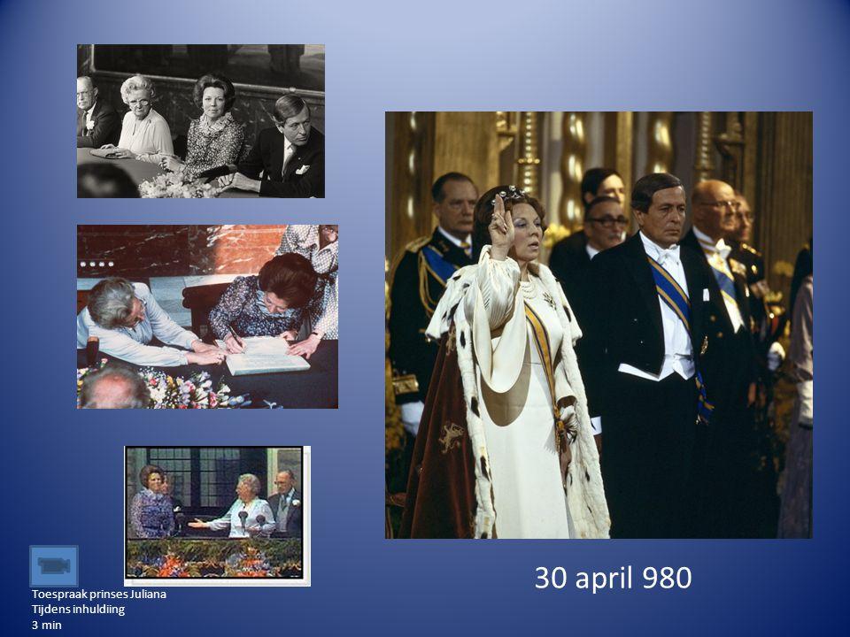 30 april 980 Toespraak prinses Juliana Tijdens inhuldiing 3 min