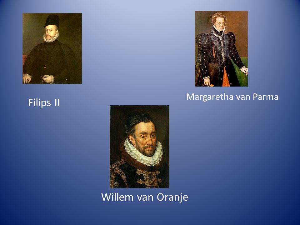 Filips II Willem van Oranje Margaretha van Parma