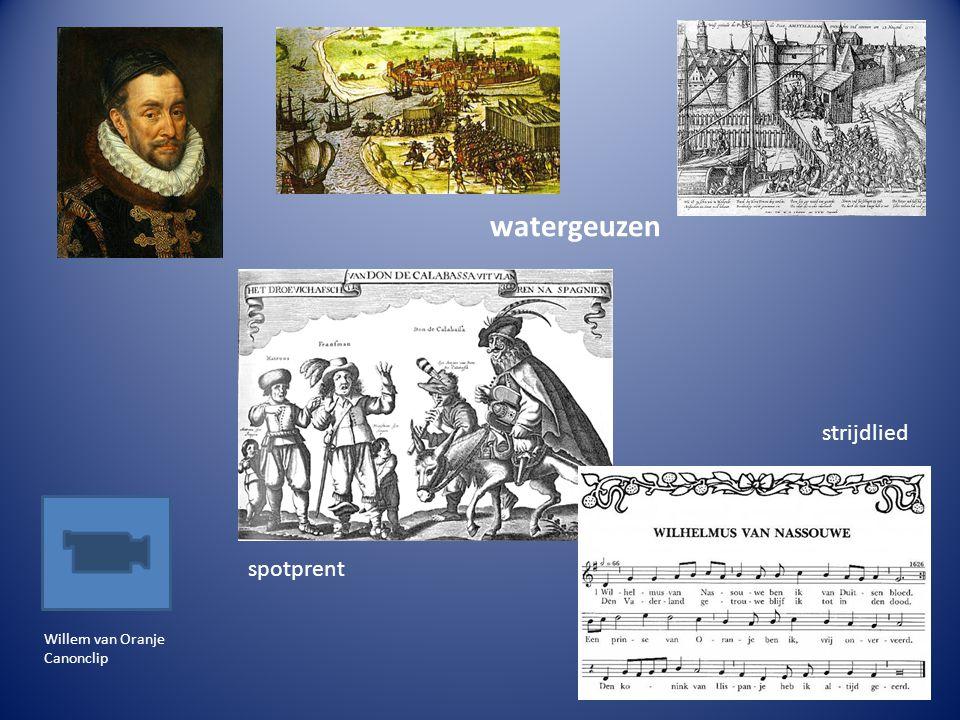 Willem van Oranje Canonclip spotprent strijdlied