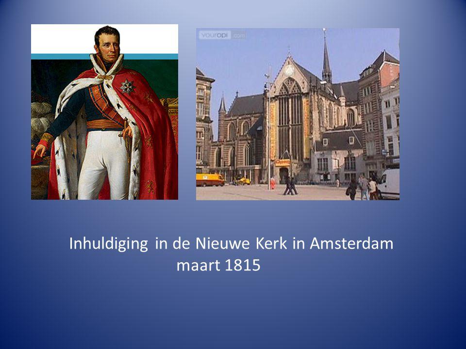Inhuldiging in de Nieuwe Kerk in Amsterdam maart 1815