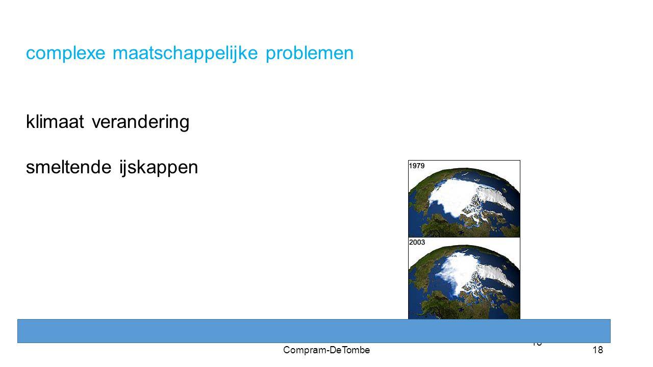 18 complexe maatschappelijke problemen klimaat verandering smeltende ijskappen Compram-DeTombe18