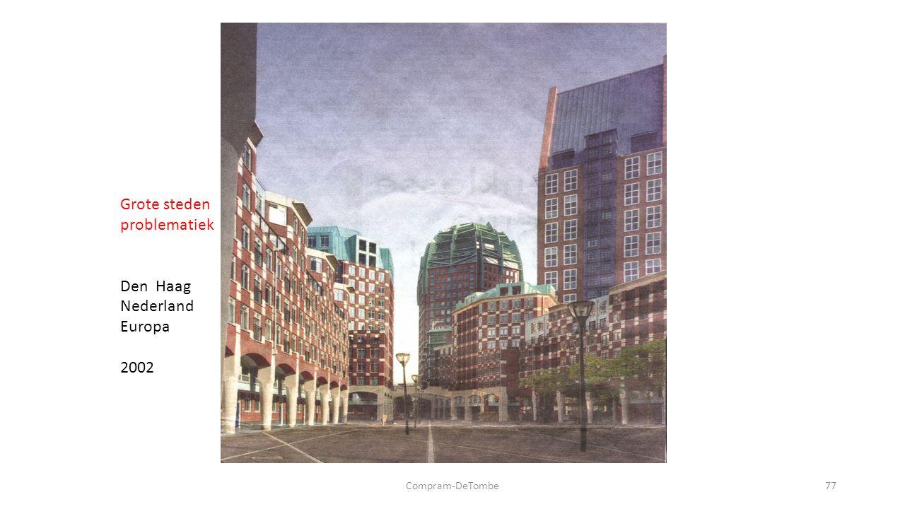 Compram-DeTombe77 Grote steden problematiek Den Haag Nederland Europa 2002