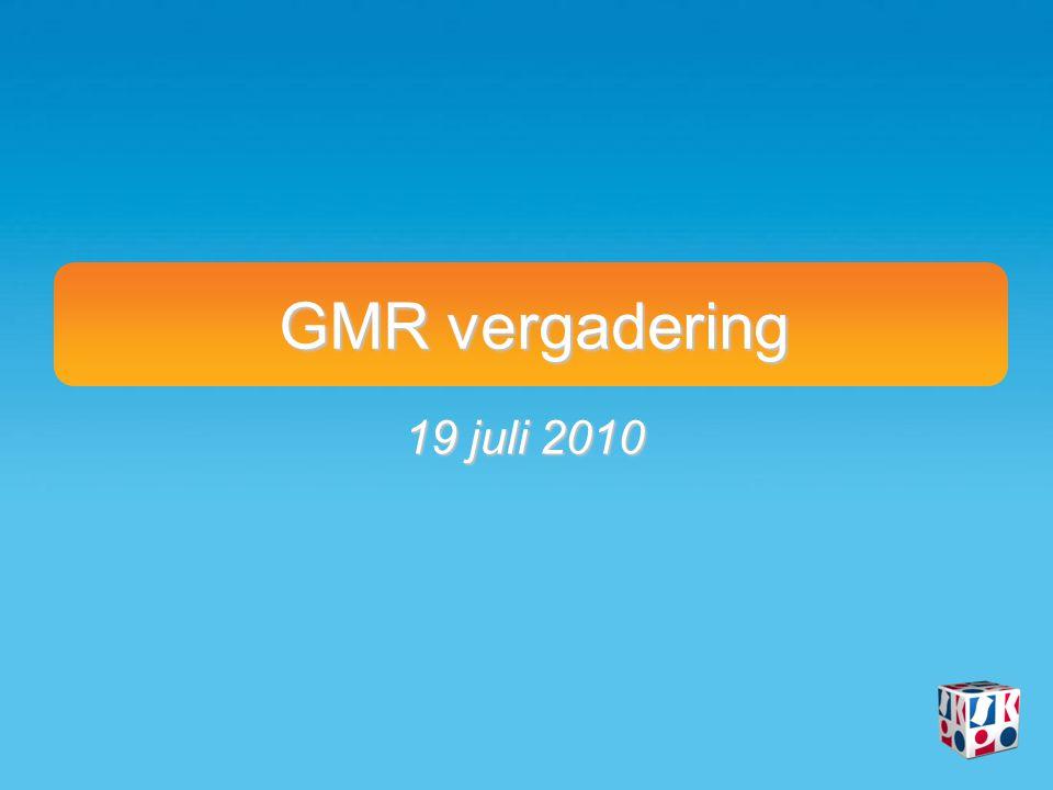 GMR vergadering 19 juli 2010