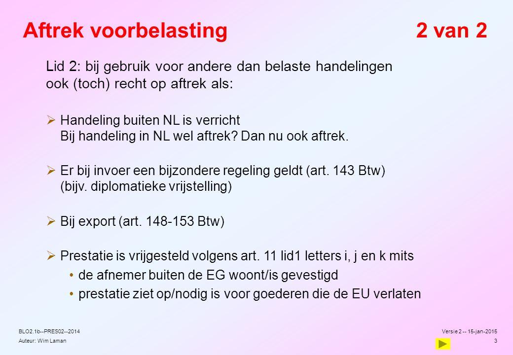 Auteur: Wim Laman Kantineverstrekkingen Artikel 3 BUA 1.