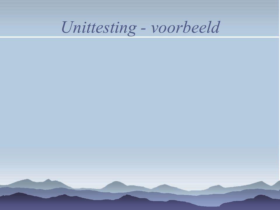 Unittesting - voorbeeld