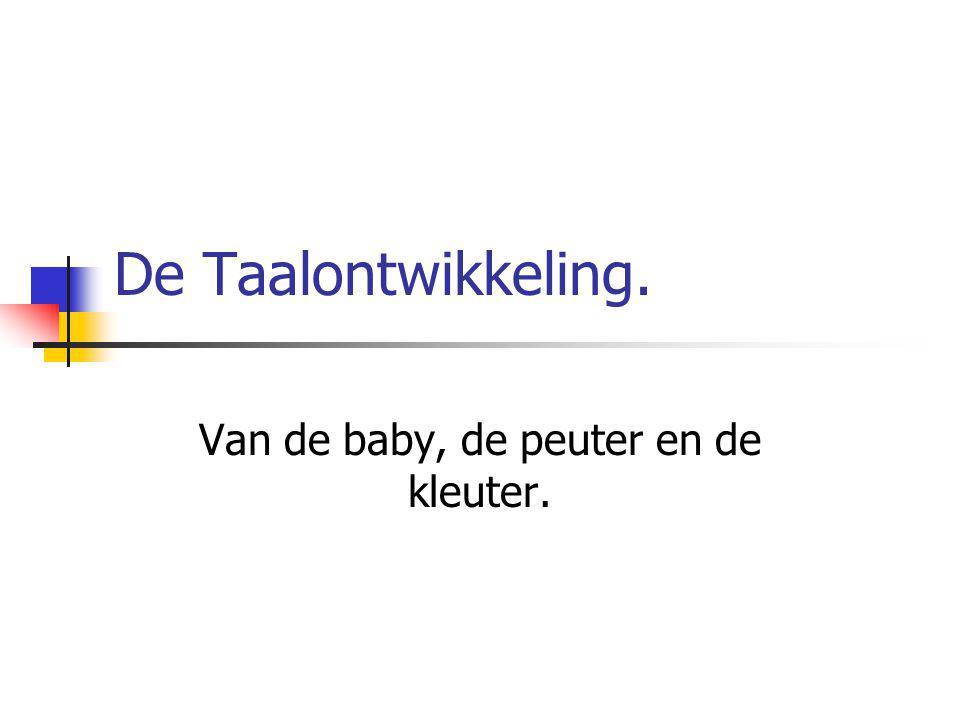 De Taalontwikkeling. Van de baby, de peuter en de kleuter.