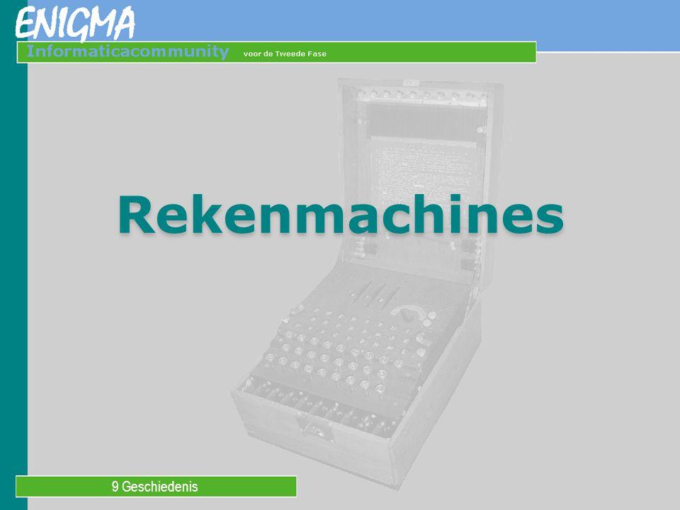 De abacus De hele geschiedenis door heeft men gezocht naar mechanische hulpmiddelen om het rekenen gemakkelijker te maken.