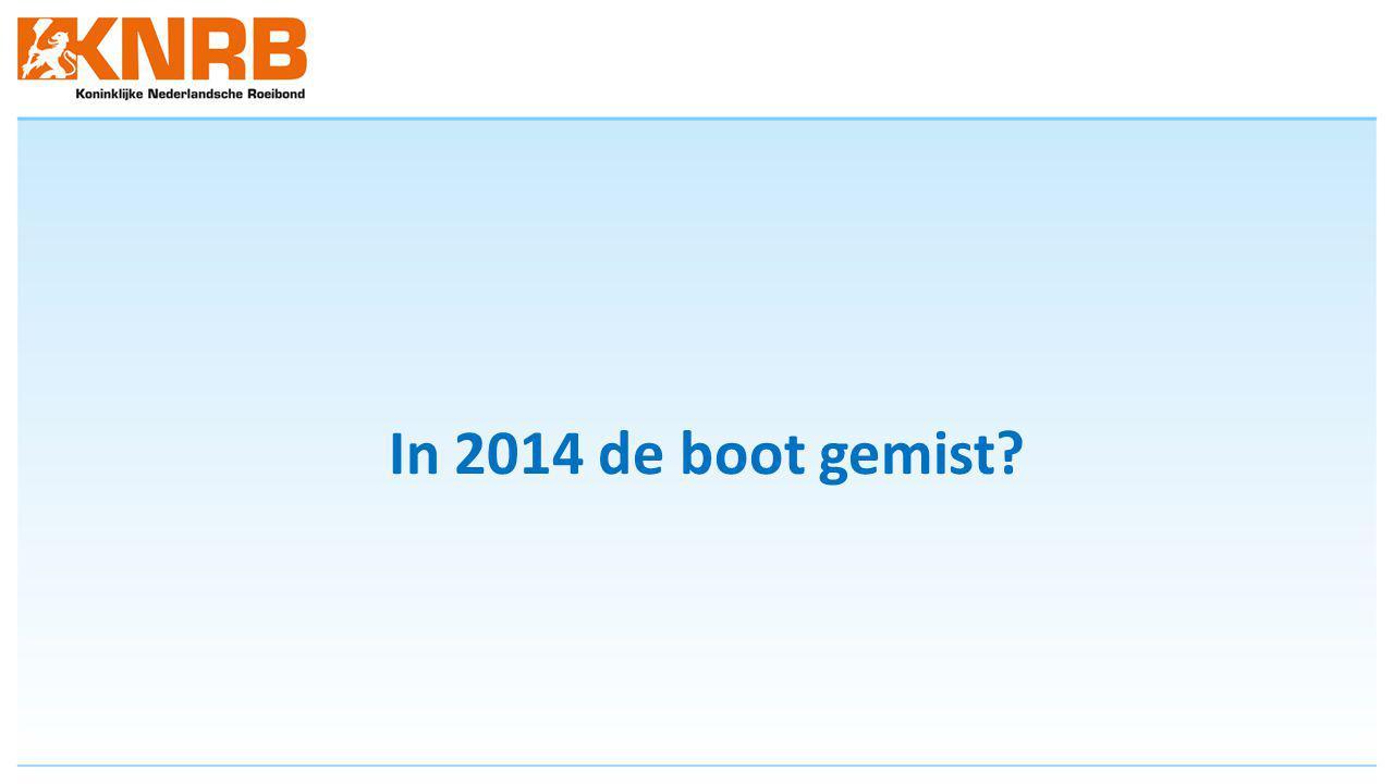 In 2014 de boot gemist?