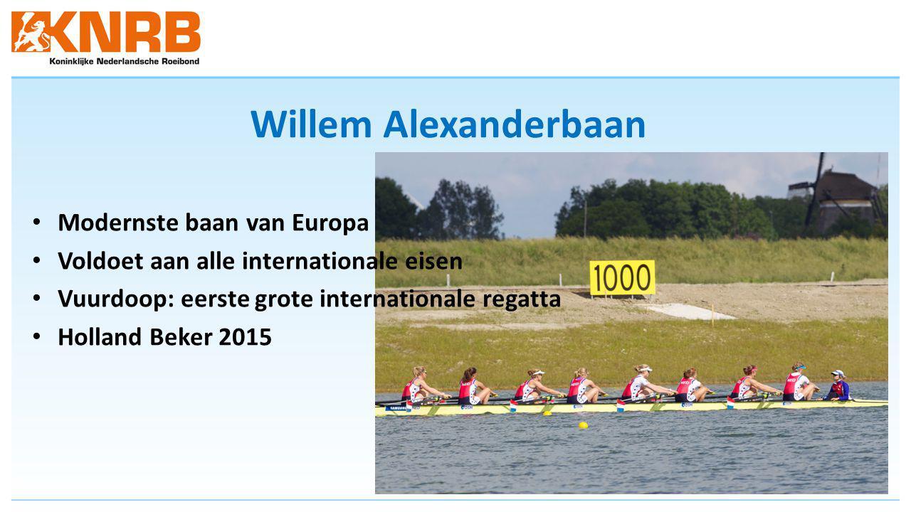 Willem Alexanderbaan Modernste baan van Europa Voldoet aan alle internationale eisen Vuurdoop: eerste grote internationale regatta Holland Beker 2015