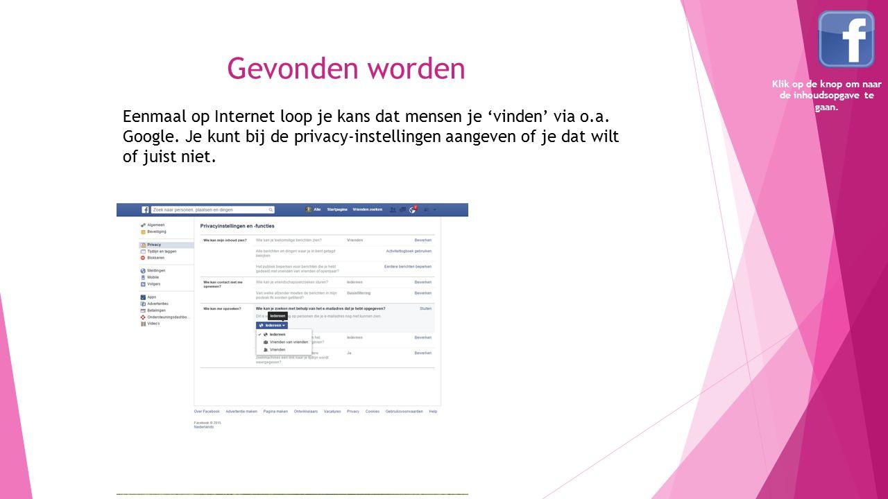 Starten met Facebook Ga naar de website van Facebook.