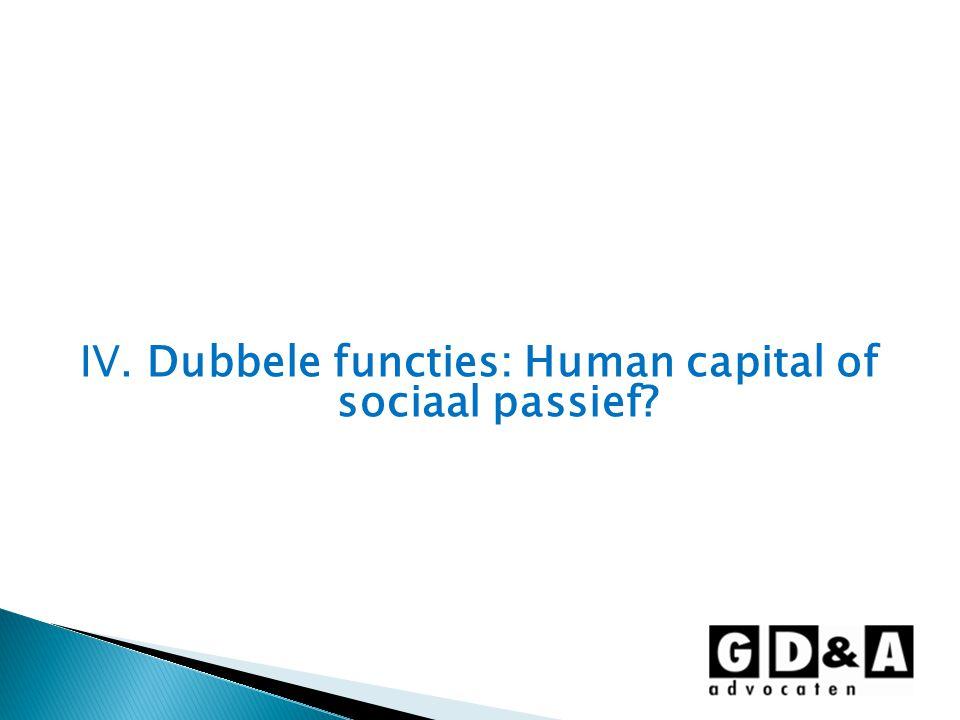 IV. Dubbele functies: Human capital of sociaal passief?