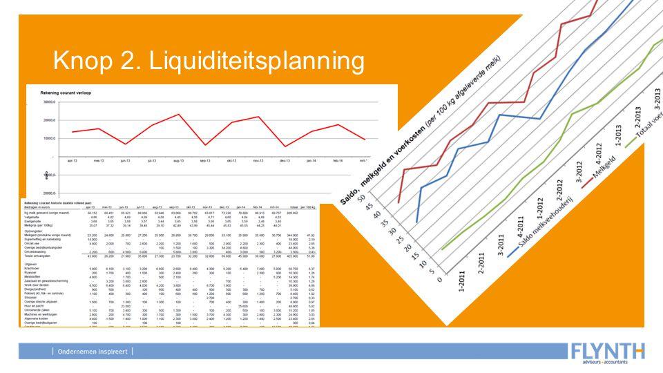 Knop 2. Liquiditeitsplanning