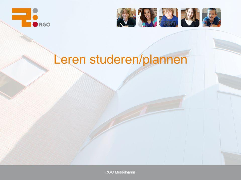 RGO Middelharnis Leren studeren/plannen