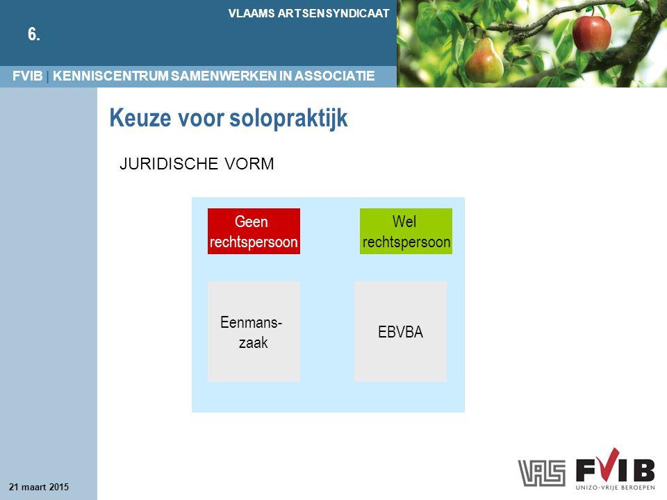 FVIB | KENNISCENTRUM SAMENWERKEN IN ASSOCIATIE VLAAMS ARTSENSYNDICAAT 6.