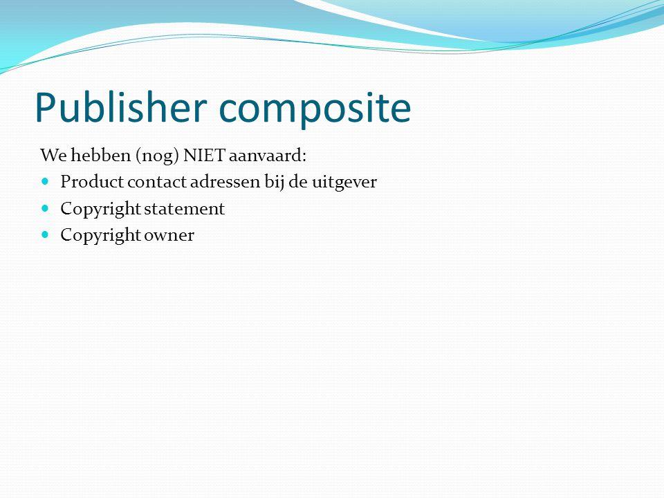 Market composite We hebben (nog) NIET aanvaard: Informatie over promotiecampagne titel