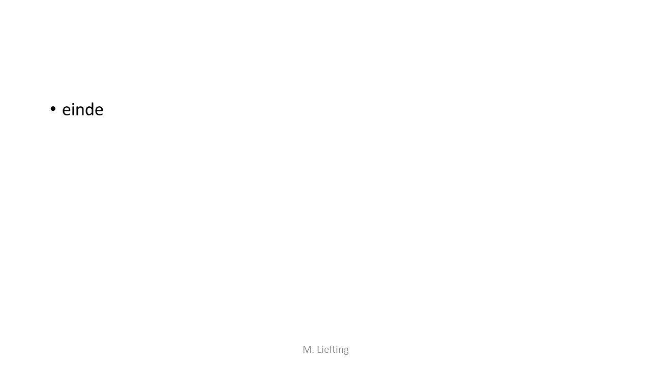 einde M. Liefting