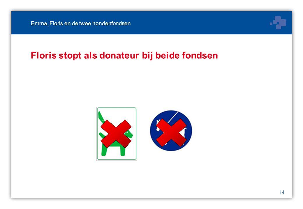 14 Floris stopt als donateur bij beide fondsen Emma, Floris en de twee hondenfondsen