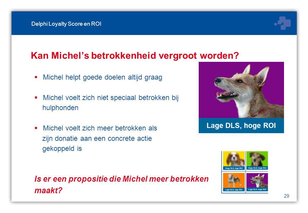 29 Kan Michel's betrokkenheid vergroot worden.