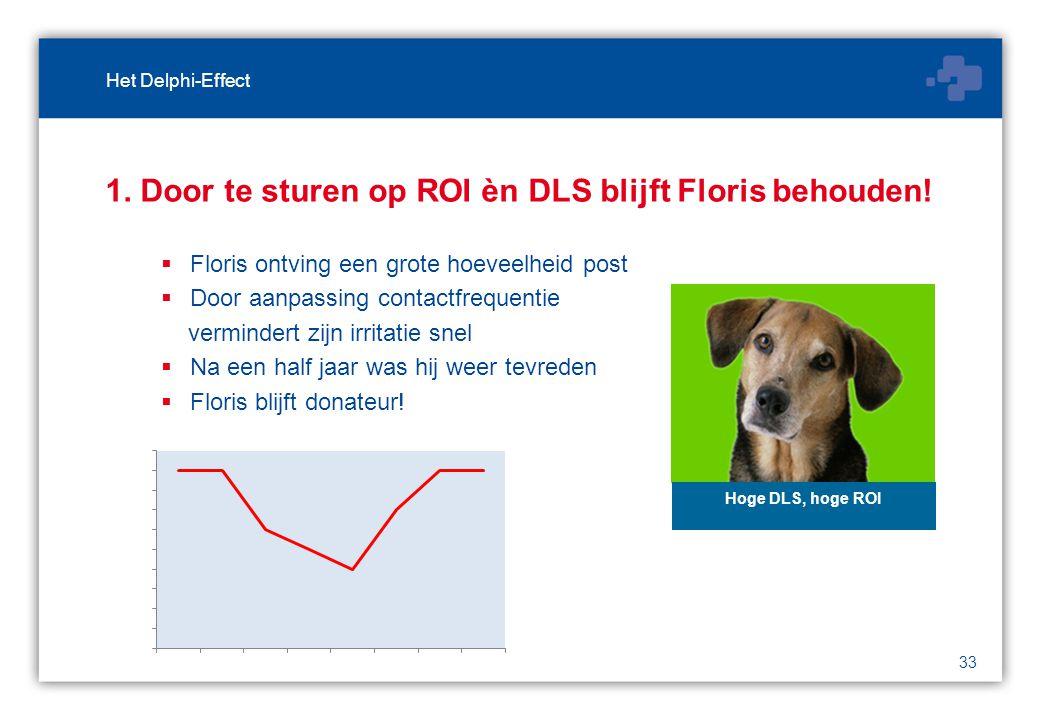 33 1. Door te sturen op ROI èn DLS blijft Floris behouden.