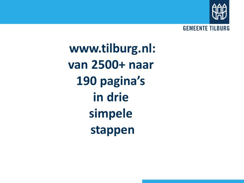 www.tilburg.nl: van 2500+ naar 190 pagina's in drie simpele stappen